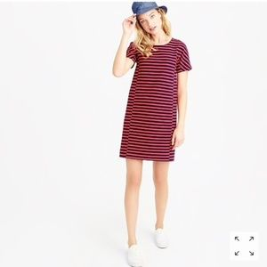 J. Crew Striped T Shirt Dress Size: Large